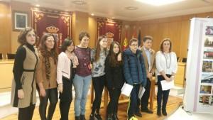 Alumnos en el Pleno del Ayuntamiento